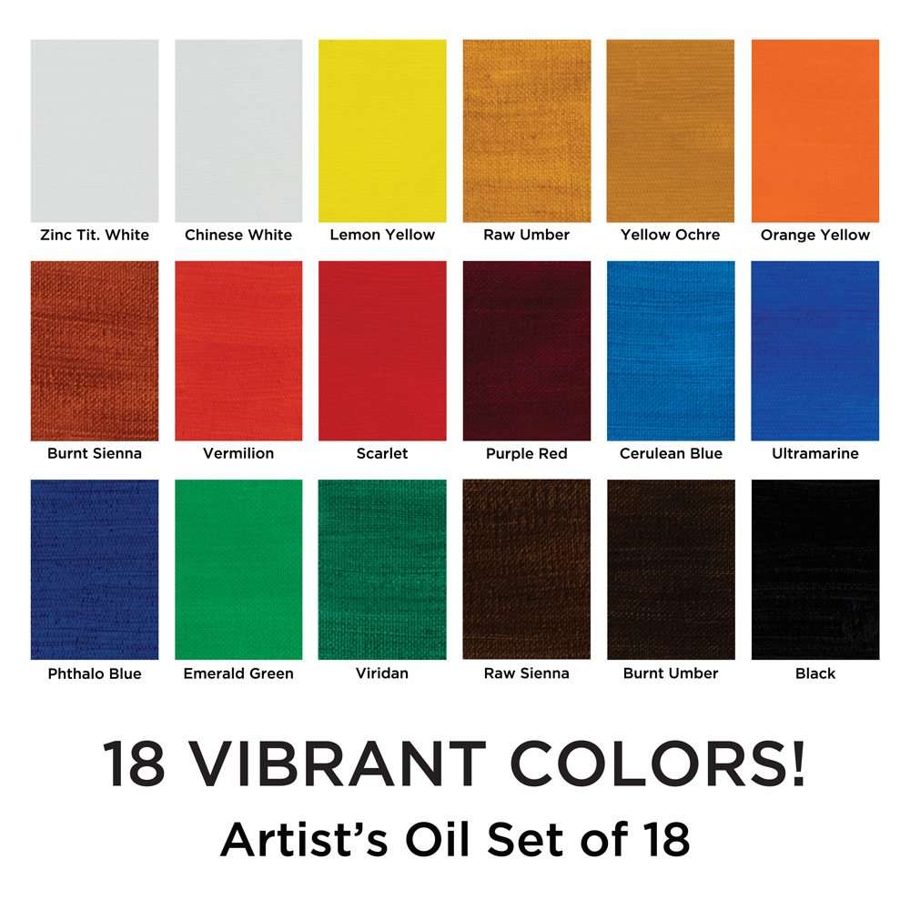 Maries artists oil colour set jerrys artarama open color andor size chart click here geenschuldenfo Images