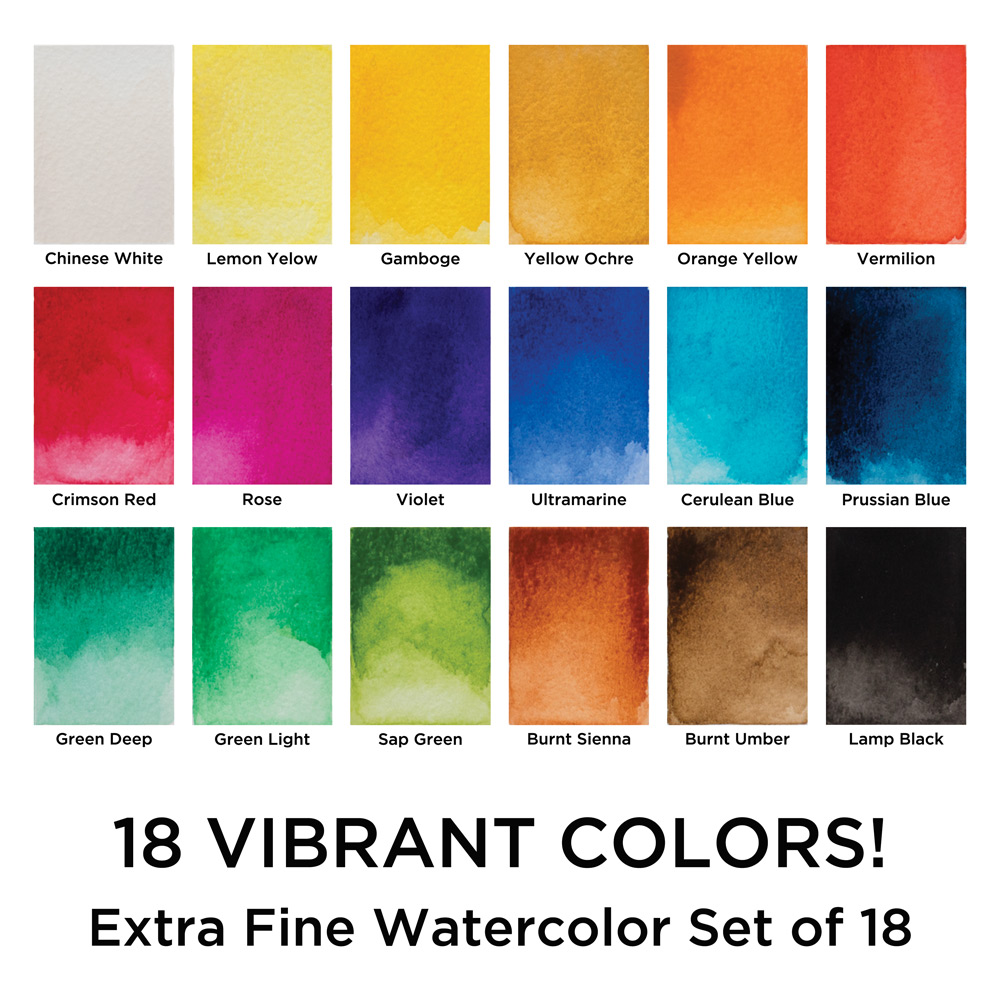 Maries watercolor and gouache sets student grade painting sets open color andor size chart click here nvjuhfo Choice Image